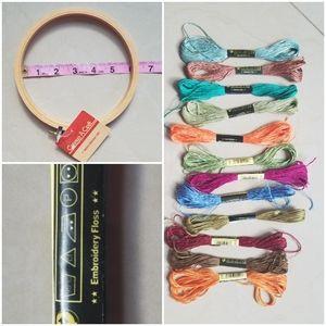 Embroidery hoop set.